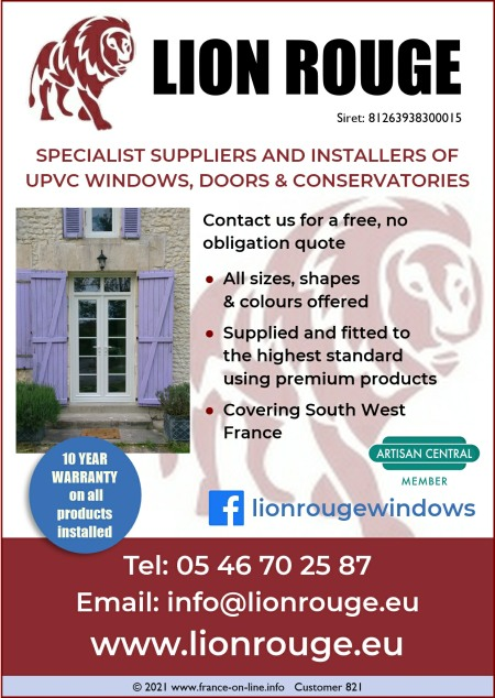Lion Rouge - Suppliers and installers of PVCu windows France